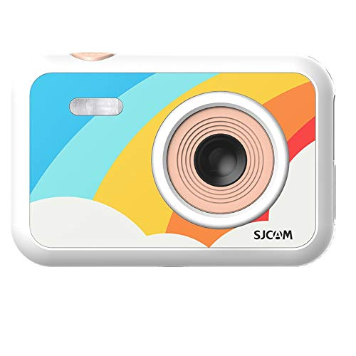"SJCAM FunCam 2"" LCD HD Digital Action Camera Cartoon Print with in-Built Games for Children & Adult Kids (FunCam Rainbow)"