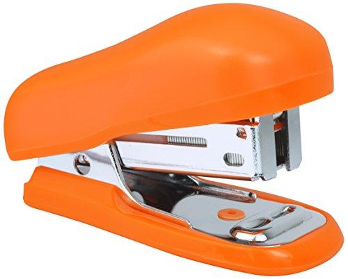 Rapesco 1410 Bug Mini Heftgerät mit Typ 26/6 mm Heftklammern (12 Blatt) Tacker Hefter Orange