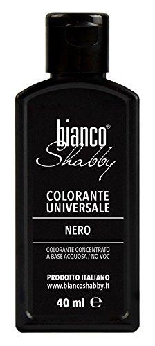 Bianco shabby colorante per chalk paint e pitture all'acqua 40 ml (nero)