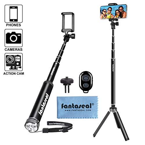 Selfie Bluetooth Selfie Stick, Bastone regolabile per selfie, monopiede regolabile da 115cm, asta multifunzionale per smartphone, fotocamera sportiva, iPhone, Huawei, Samsung, ecc.