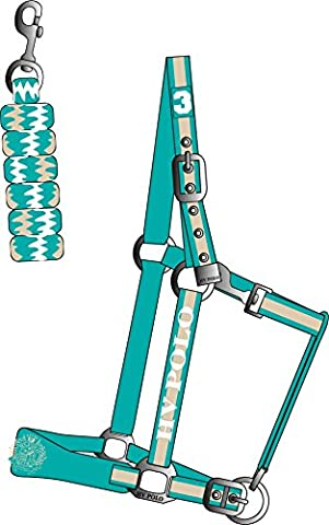 HV POLO Headcollar and Rope Favouritas Aqua Full Size