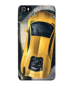 FUSON Designer Back Case Cover for Huawei Honor 6 (Yellow 918 Spyder Top View Expensive Cars)