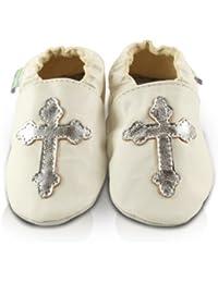 Snuggle Feet - Chaussons Bébé en Cuir Doux - Baptême