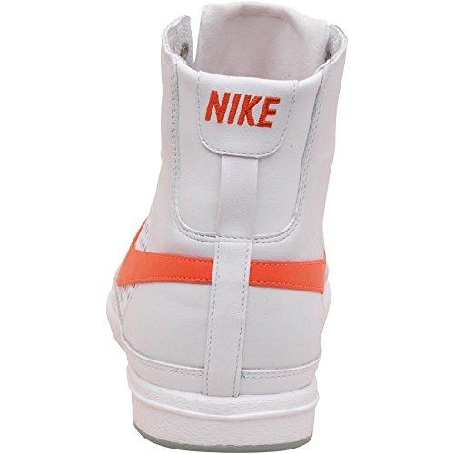 - Blanc/Orange-Blazer de Nike Mid Premium Cuir Blanc/Bright Coral multicouleur - White/Orange