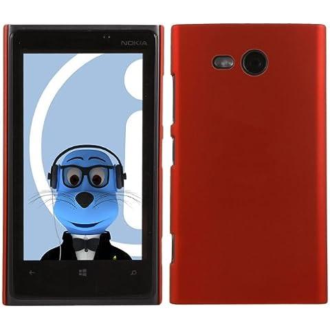 iTALKonline Nokia Lumia 820 ROSSO Difficile Saluto dura della cassa della pelle Soft Grip Slim