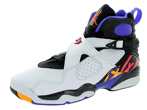Nike - Air Jordan 8 Retro Bg, Scarpe sportive Bambino Multicolore (Blanco / Negro / Azul (White / Infrrd 23-Blk-Brght Cncr))