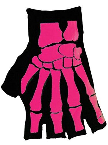 Fingerlose Handschuhe Skelett Hand (Skelett Handschuhe Fingerlose)