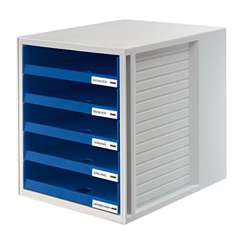 HAN Schubladenbox SCHRANK-SET, lichtgrau-blau