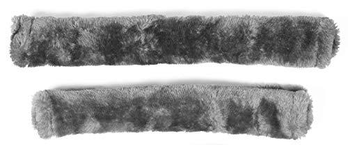 PFIFF 102188 Polster für Halfter und Trense Kunstfell Kunstfellset 26/30cm, Grau