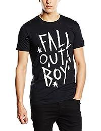 Fall Out Boy T-Shirt Lettrage Homme Noir Sous Licence Officielle