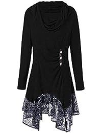 339750419d9d2 Suchergebnis auf Amazon.de für: langes hemd damen - Schwarz: Bekleidung