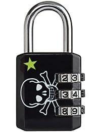 Master Lock 1509EURDSKILL Cadenas vestiaire Motif Tête de Mort Noir 30 mm