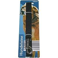[Gesponsert]Hundeleine mit Handschlaufe und Karabinerhaken inkl. Drehwirbel 165 cm schwarz (0032)