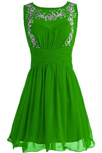 Sunvary Festlich Neu 2015 Chiffon Perlen Paillette Abendkleid Kurz Cocktailkleid Grün