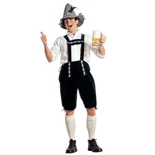 Kostüm Wiesn Männer - Amakando Trachten Lederhose Oktoberfest Hose XL (54) Bayrische Seppelhose Bayer Trachtenhose Wiesn Trachtenlederhose Seppel Kniebundhose Fasching Dirndl Mottoparty Verkleidung Karneval Kostüme Männer