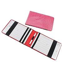 Soporte de cuero kofull para tarjeta de puntuación de golf y libro de ejercicios de bolsillo, tarjeta de seguimiento., rosa