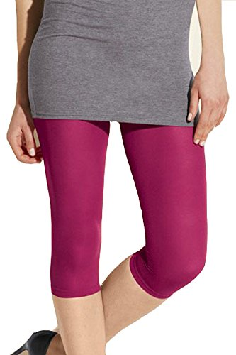 Damen Capri Leggings 60 Den himbeere G. 40/ 42 Leggings Damenhose Kleidung