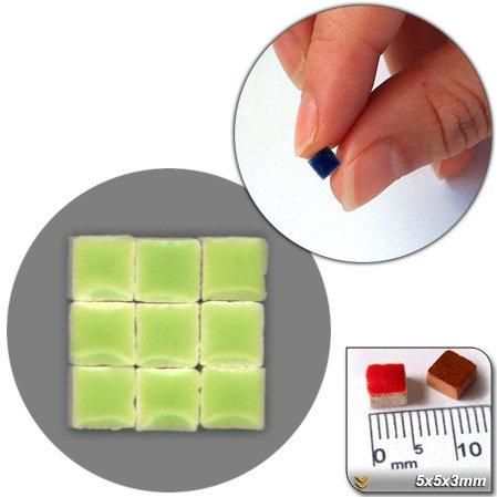 Mini Mosaïque (5x5x3mm), 1000 tesselles, Vert jaune, WG04