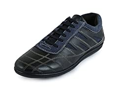 30s Impex Mens Black Leather Shoes-10 UK