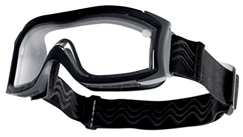 X 1000 ballistic goggle - DUAL LENS: Clear lens / Black frame