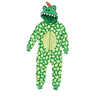 Kids Childrens Boys Girls Fluffy Fleece Onesie Or Robe Character Dress Up Suit Age 2 3 4 5 6 7 8 9 10 11 12 Years