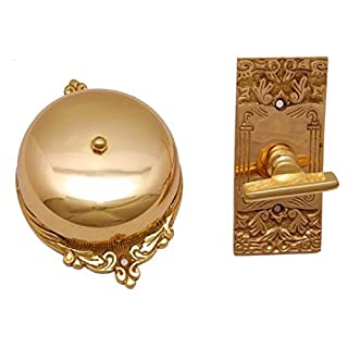 Adonai Hardware Bartholomew Brass Manual Old Fashion Door Bell or Twist Door Bell or Hand-Turn Door Bell