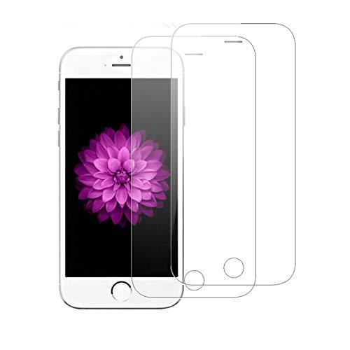 AMOGUE 2 Pack Verre Trempé iPhone 5 / 5S / 5C / Se, Film Protection en Verre Trempé Protection Ecran iPhone 5 / 5S / 5C / Se, Ultra Résistant, Dureté 9H, sans Bulles, Ultra Transparente