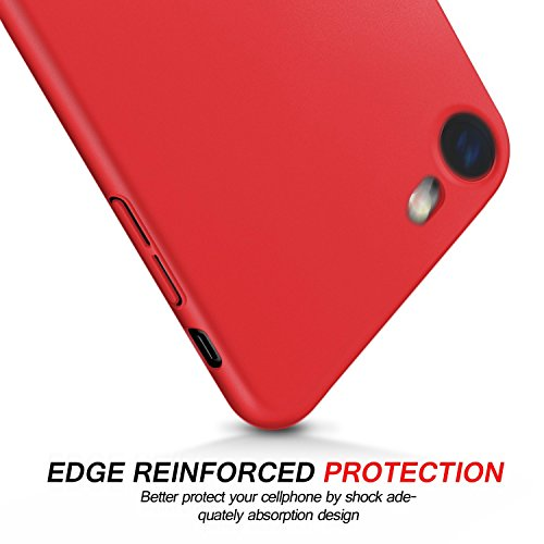 iPhone 6 6s Hülle, JEPER Ultra Slim PC Hard Anti-Scratch Case Matt FederLeicht Anti Fingerabdruck Shock Absorption Vollen Schutz Schale Cover für Apple iPhone 6 6s Red