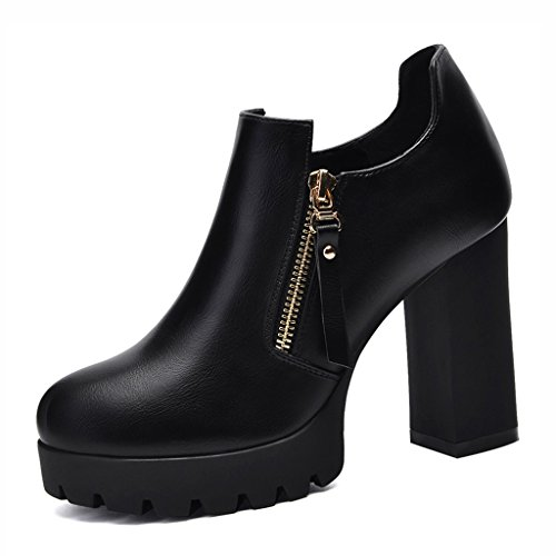 free shipping 05475 d4b43 Chaussures femme HWF Shallow Mouth Chaussures Simples Femmes Talons Hauts  en Cuir Chaussures pour Femmes