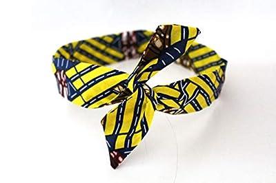 Bandeau rigide court Wax bleu et jaune