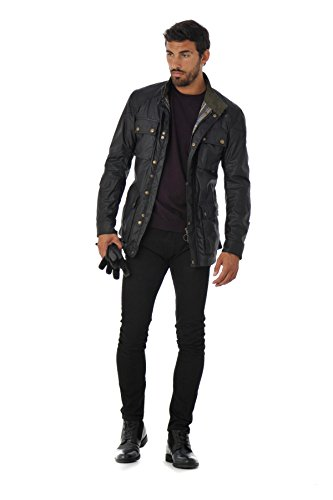 BELSTAFF Roadmaster Jacket Man, Blouson Homme Noir (90000)