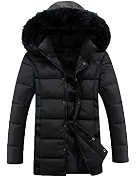 Zhhlinyuan Ropa de calle Men's Plus Thicken Winter Coat with stand-up Collar Long Coat Outerwear