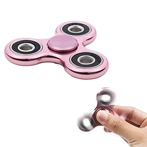 Tumi fidget hand spinner metal - il miglior gioco per ridurre lo stress - perfetto per l'ansia e lo stress - per adulti o bambini - rosa metallo