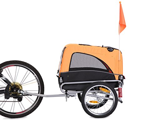 Leonpets Haustier transportwagen Fahrradanhänger (Orange) 10308S