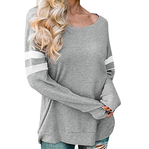 KPILP Ladies Blouse Long Sleeve Shirt Simple and Comfortable Pullover