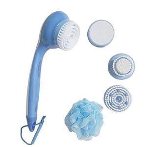 Dusche Bürste, 5-in-1 elektrische Massage Dusche Bürste langen Griff Reinigung System Pinsel Pediküre Peeling Mikrodermabrasion