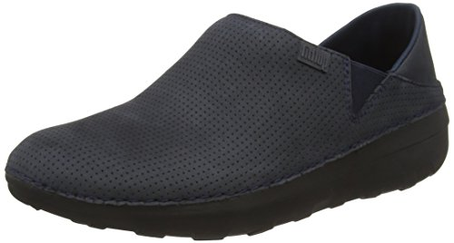 FitFlop Superloafer Nubuck, Mocassini Donna, Blu (supernavy), 41
