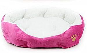 Scrox adorable Chenil Canapé d'hiver chaud et doux Matelas à panier Nid d'animaux Canapé pour chien et chat espace de couchage Paniers pour chat et chien Facile à plier Amovible et lavable