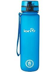 Ion8 auslaufsichere Wasserflasche / Trinkflasche, BPA-frei, Frostig blau, 1000 ml