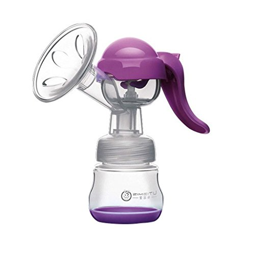 ma-on Single Manuelle Massage, Milchpumpe Brustpumpen für Mama 150 ml (lila)