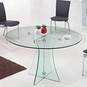 Tavolo rotondo in vetro diametro 120 cm finitura - Tavolo rotondo vetro diametro 120 ...