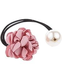 Stoff Rose Blumen Haarband Zopfgummi Haarschmuck Haargummi Gummiband Schmuck