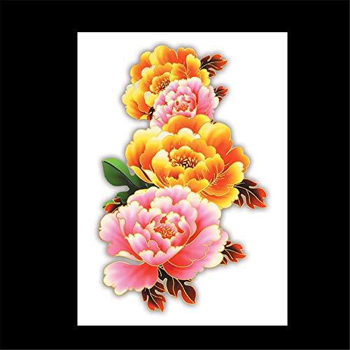 zgmtj wasserdichte Tätowierungsaufkleber des Blumenarms Halloween-Tätowierungsaufkleber HB-666 148 * 210MM
