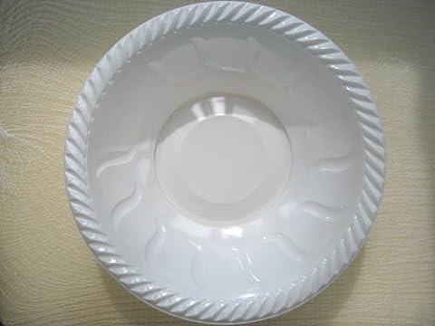 8 x Forte Grande Plastique Blanc Jetable Bols De Service