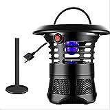 Mosquito Light Garden LED Electronic Electronic Trap Trap antizanzare Killer di Insetti Applicabile al Giardino Balcone Camera da Letto Hall Hotel Nessuna radiazione
