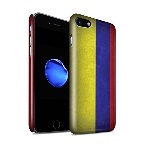 STUFF4 Glanz Snap-On Hülle / Case für Apple iPhone X/10 / Griechenland/Griechisch Muster / Flagge Kollektion Columbia/Columbian