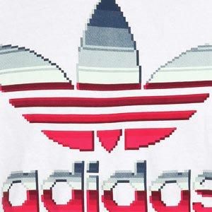 adidas T-shirt Uomo Grafico Trefoil Tee Nastro Pixel | W69172