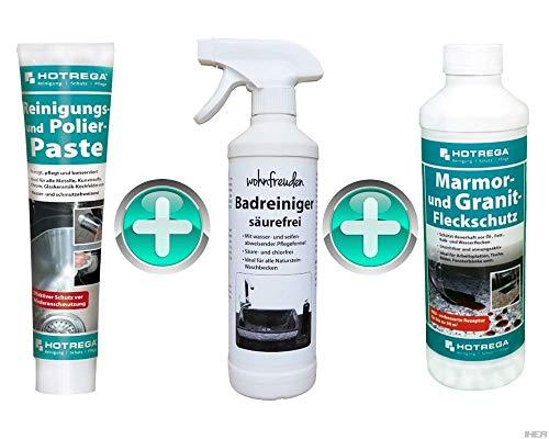 wohnfreuden Naturstein Waschbecken Pflege Spray Badreiniger säurefrei 500 ml