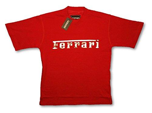 Scuderia Ferrari F1Team para hombre logotipo de aluminio plateado rojo camiseta, hombre, rojo, XL