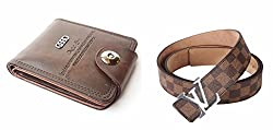 Mens Wallets & Belts Combo for Mens